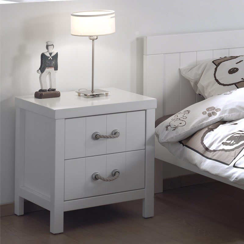 chevet enfant lewis blanc. Black Bedroom Furniture Sets. Home Design Ideas