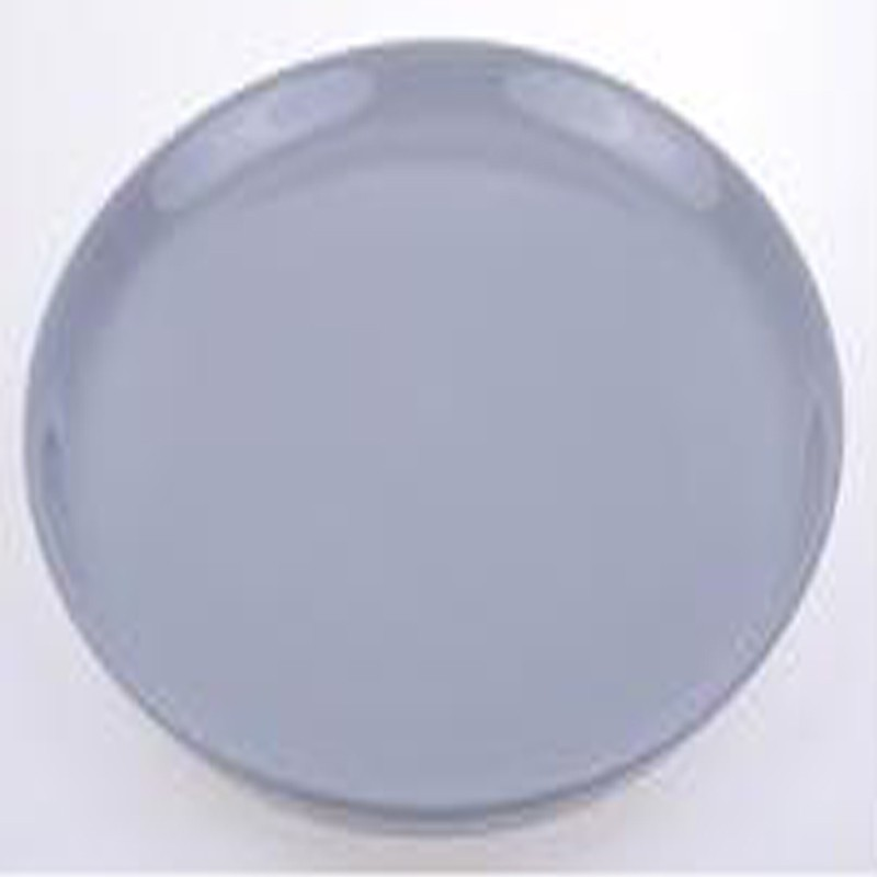 lot de 6 assiettes plates rebord 28cm gris. Black Bedroom Furniture Sets. Home Design Ideas