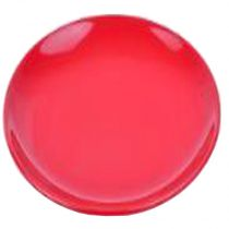 "Lot de 6 Assiettes Plates ""Ronde"" Rouge"