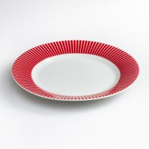 "Lot de 6 Assiettes Plates ""Baya"" 27cm Rouge"