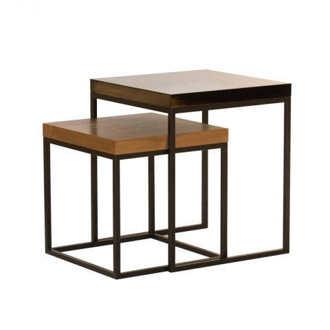 temahome table gigogne 55cm prairie noyer noir. Black Bedroom Furniture Sets. Home Design Ideas