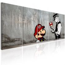 "Tableau Imprimé ""Mario Bros on Concrete"""