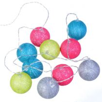 "Guirlande Led ""10 Boules"" 165cm Multicolore"