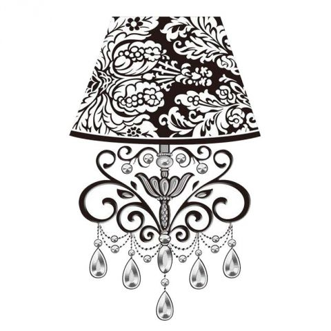 "Sticker Relief à LED Lampe ""Baroque"" n°6"