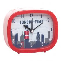 "Réveil City ""London Time"" Rouge"