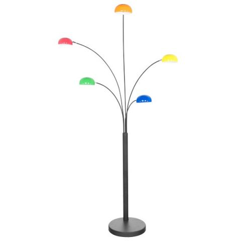 "Lampadaire 5 Têtes ""Five"" 200cm Multicolore"