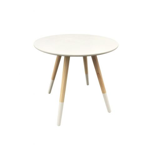 "Table d'Appoint Design ""Mileo"" 48cm Blanc"