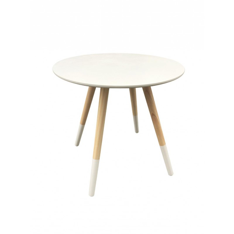 Table d 39 appoint design mileo 48cm blanc - Table d appoint design ...