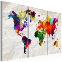 "Tableau Imprimé ""World Map : Rainbow Madness II"""