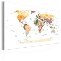 "Tableau Imprimé ""World Map : Travel Around the World"""