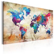 "Tableau Imprimé ""World Map : Urban Style"""