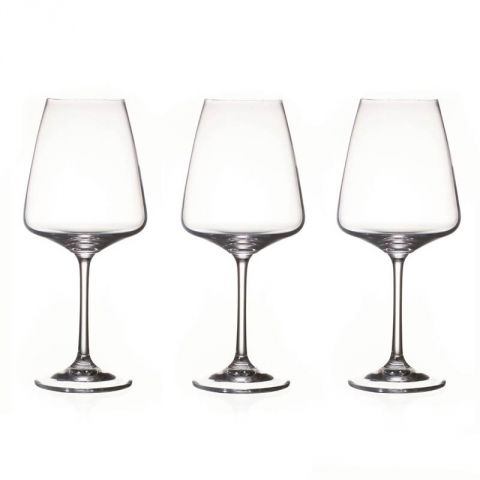 "Lot de 3 Verres à Eau ""Ines"" Transparent"