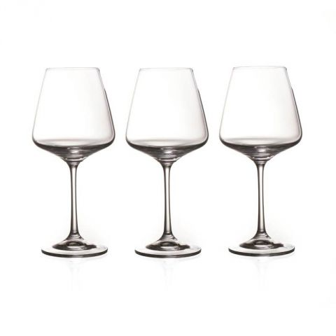 "Lot de 3 Verres à Vin ""Ines"" Transparent"