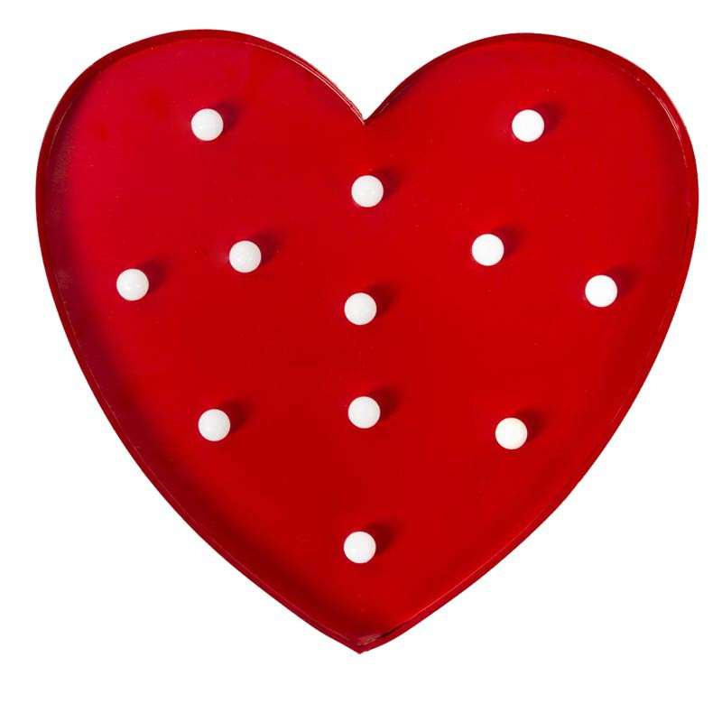 D coration murale led coeur rouge - Decoration murale led ...