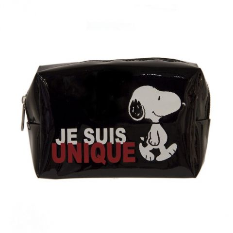 "Trousse Rectangle ""Snoopy"" Noir"
