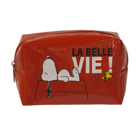 "Trousse Rectangle ""Snoopy"" Rouge"