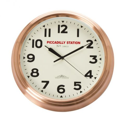 "Pendule ""Piccadilly Station"" 36cm Cuivre"