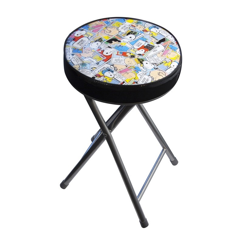 tabouret pliable snoopy multicolore. Black Bedroom Furniture Sets. Home Design Ideas
