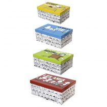 "Lot de 4 Boites de Rangement ""Snoopy"" Multicolore"