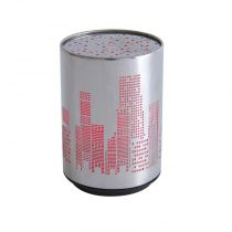 "Lampe Veilleuse Led Multicolore ""Push City"" Gris"