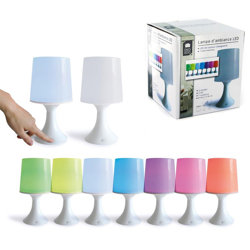 lampe d 39 ambiance led 7 couleurs blanc. Black Bedroom Furniture Sets. Home Design Ideas