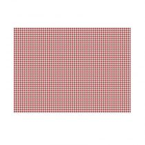 "Lot de 20 Sets de Table en Papier ""Bistrot"" Rouge"