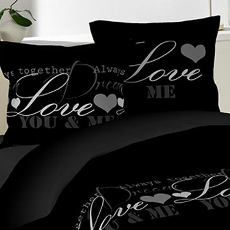 parure de lit 3 pi ces love dreams 220x240cm. Black Bedroom Furniture Sets. Home Design Ideas