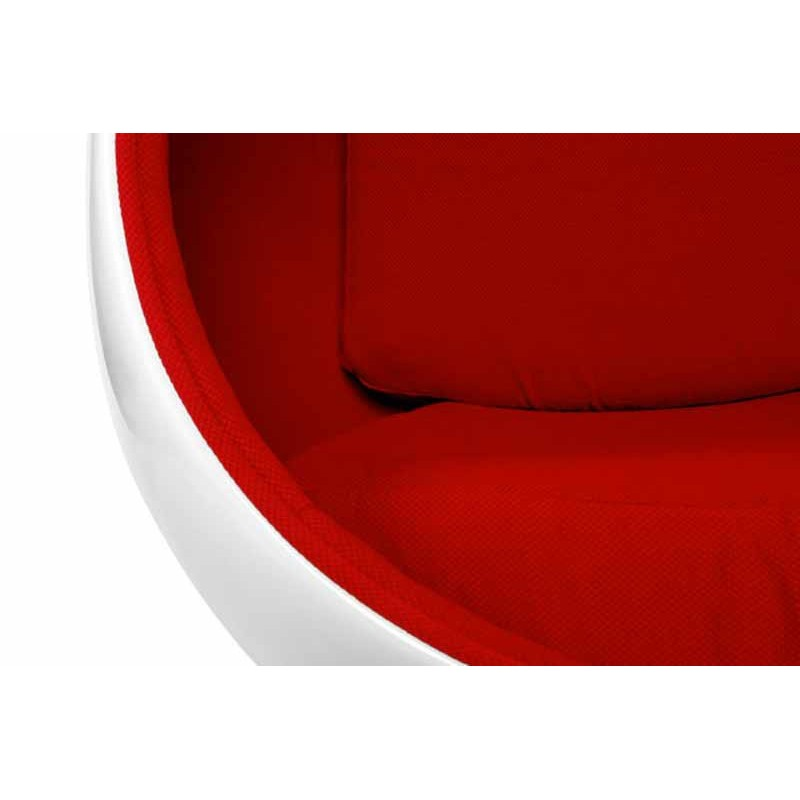 fauteuil design eggs blanc et rouge. Black Bedroom Furniture Sets. Home Design Ideas
