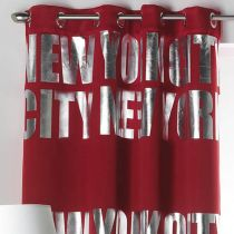 "Rideau Occultant ""New York Silver"" 140x260cm Rouge"