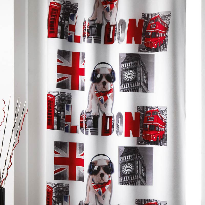 Rideau occultant london boy 140x260cm - Rideau new york conforama ...