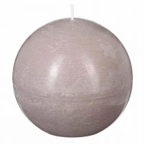 """Bougie Boule """"Rustic"""" 10cm Taupe"""