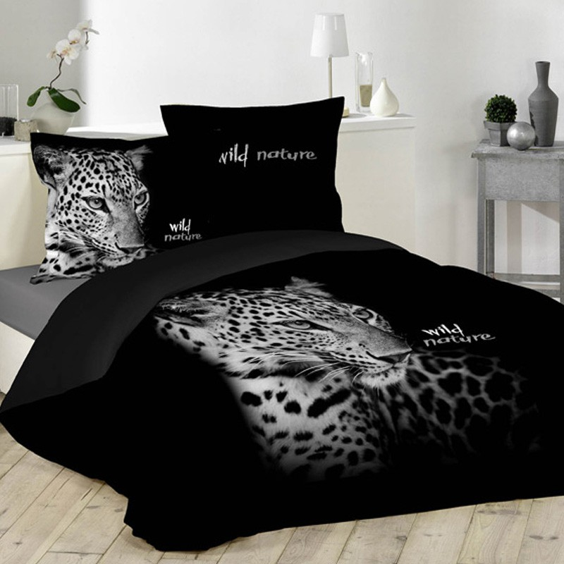 parure de lit 3 pi ces wild nature 220x240cm. Black Bedroom Furniture Sets. Home Design Ideas
