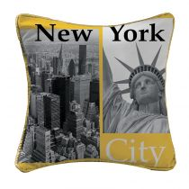 "Coussin ""New York Yellow"" 40x40cm Jaune"