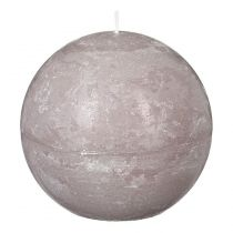 """Bougie Boule """"Rustic"""" 12cm Taupe"""