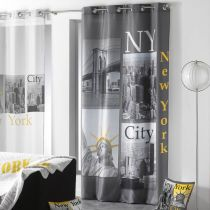 "Rideau ""New York Yellow"" 140x260cm Anthracite"