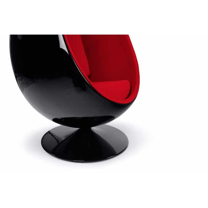 fauteuil design eggs noir et rouge. Black Bedroom Furniture Sets. Home Design Ideas