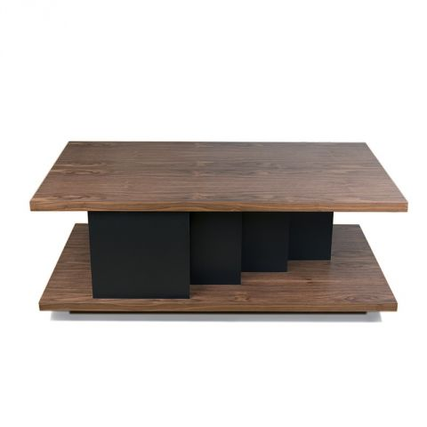 "TemaHome - Table Basse ""Goa"" Noyer & Noir"
