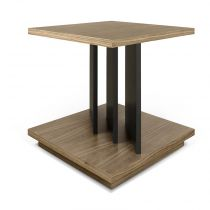 "TemaHome - Table d'appoint design ""Goa"" Noyer & Noir"
