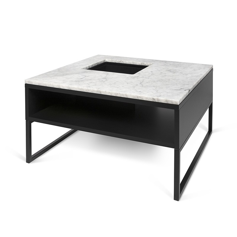 temahome table basse sigma marbre blanc pieds en m tal. Black Bedroom Furniture Sets. Home Design Ideas