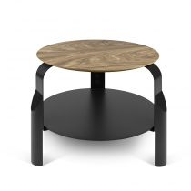 "TemaHome - Table d'appoint ""Scale"" Noyer & Noir"