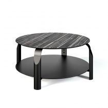 "TemaHome - Table Basse ""Scale"" Blanc Mat & Noir"