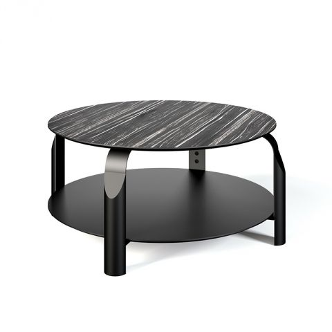 """TemaHome - Table Basse """"Scale"""" Blanc Mat & Noir"""