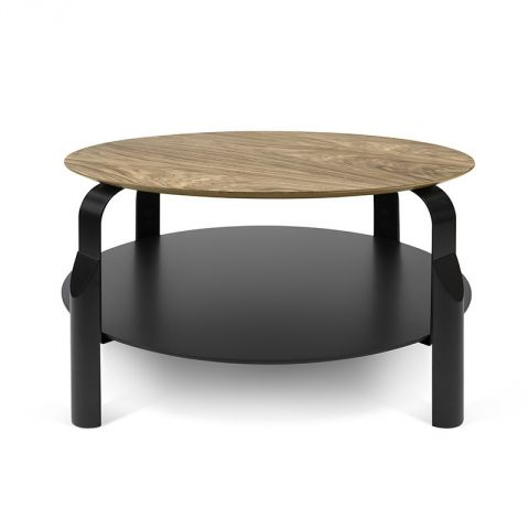 "TemaHome - Table Basse ""Scale"" Noyer & Noir"