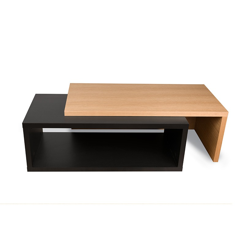 Temahome table basse 90cm jazz noir mat ch ne for Table basse noir et bois
