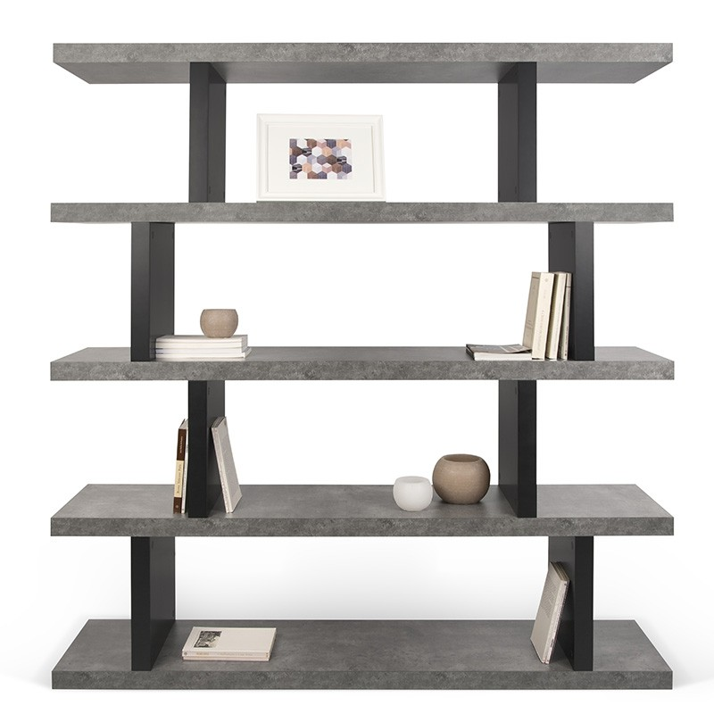 temahome tag re biblioth que step haut b ton. Black Bedroom Furniture Sets. Home Design Ideas