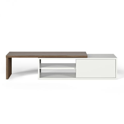 "TemaHome - Meuble TV ""Move"" Noyer & Blanc Mat"