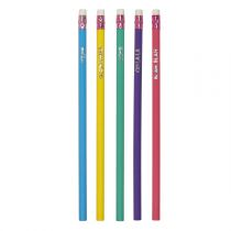 "Lot de 5 Crayons à Papier ""Pop"" 19cm Multicolore"
