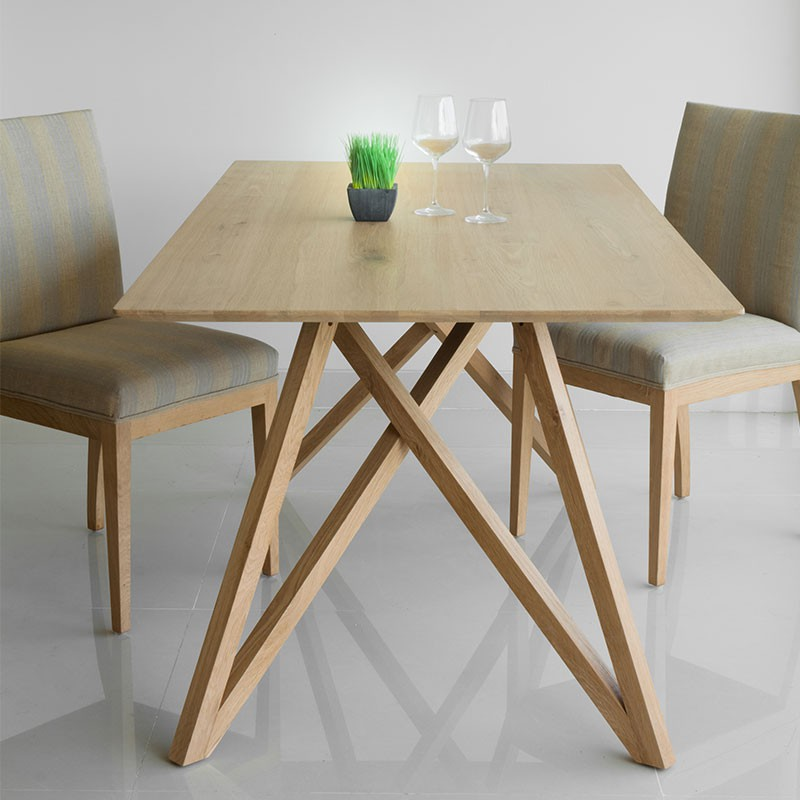 Table de salle manger spider ch ne massif for Table de salle a manger retractable