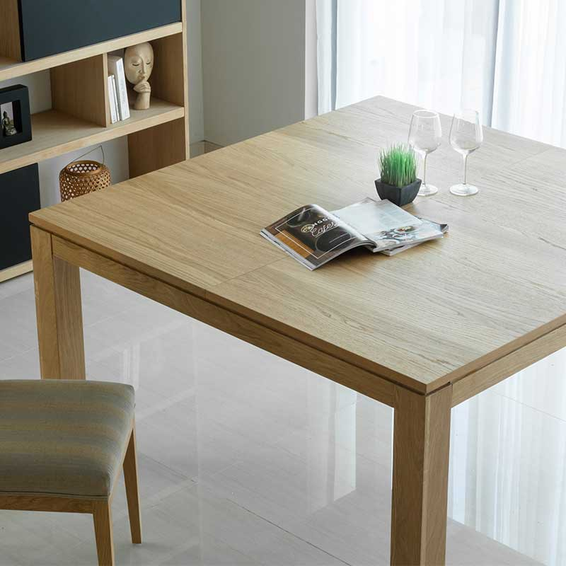 table de salle manger extensible nathan 140 190cm ch ne massif. Black Bedroom Furniture Sets. Home Design Ideas