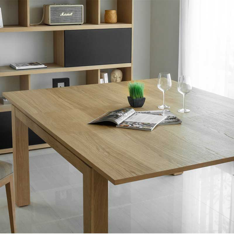 table de salle manger extensible nathan ch ne massif. Black Bedroom Furniture Sets. Home Design Ideas